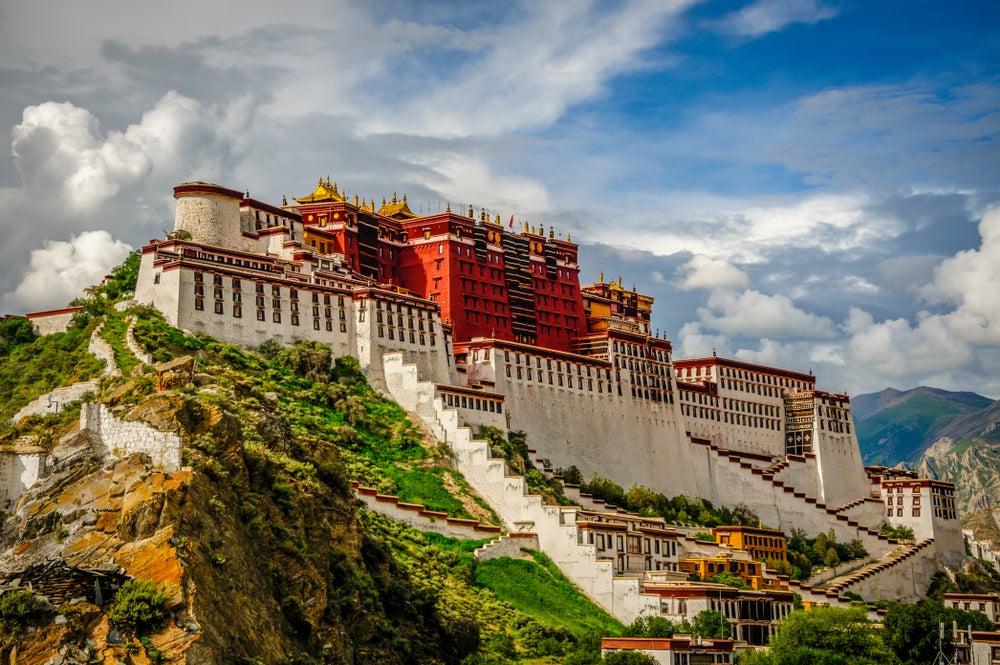 Palacio de Potala en el Tíbet