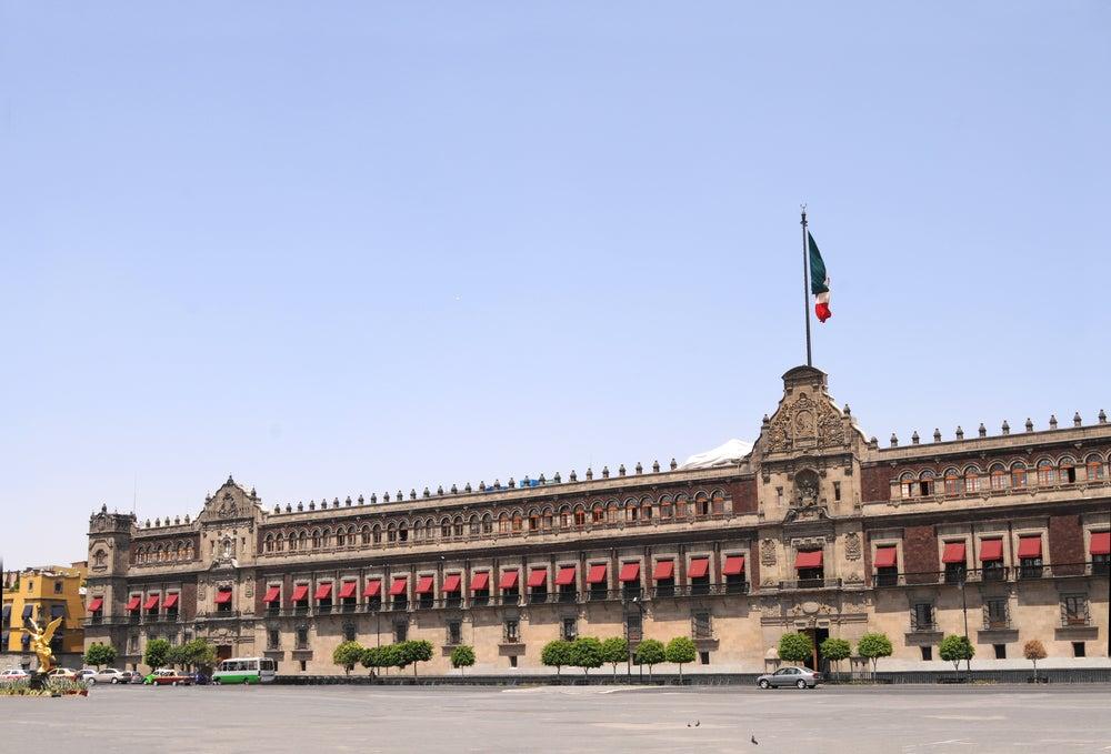 Palacio Nacional en Ciudad de México