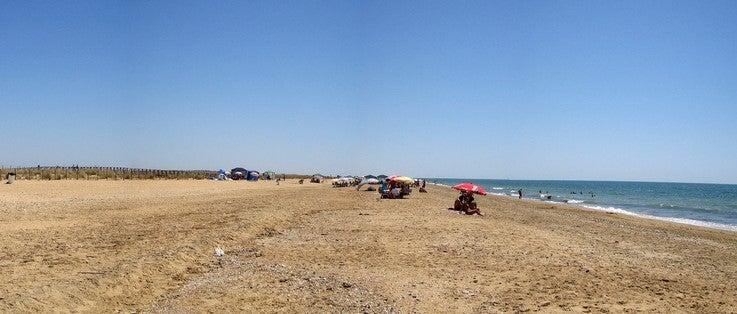 Playa El Espigón en Huelva