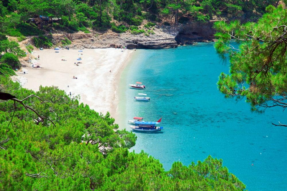 Playa de Kabak, una de las mejores playas de Turquía
