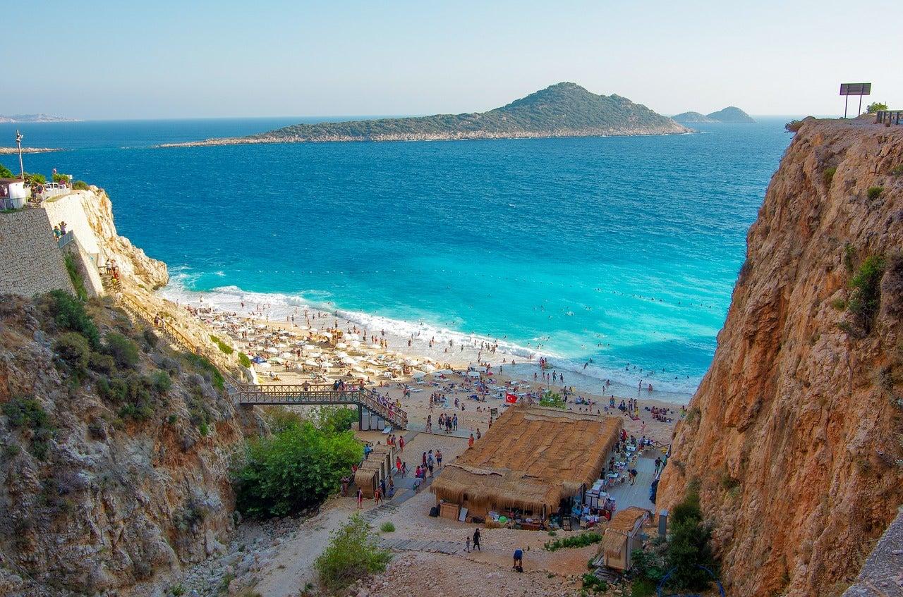 Playa de Kaputas en Turquía