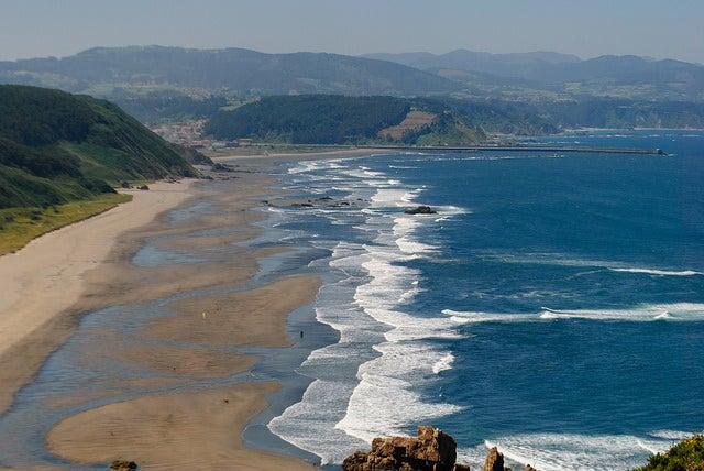 Playón de Bayas, una de las playas para perros en España