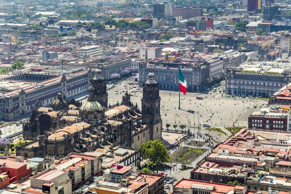 Plaza del Zócalo en la capital de México