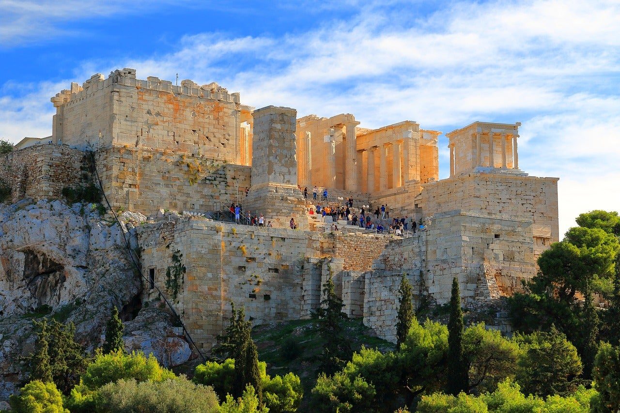 Propileos en la Acrópolis de Atenas