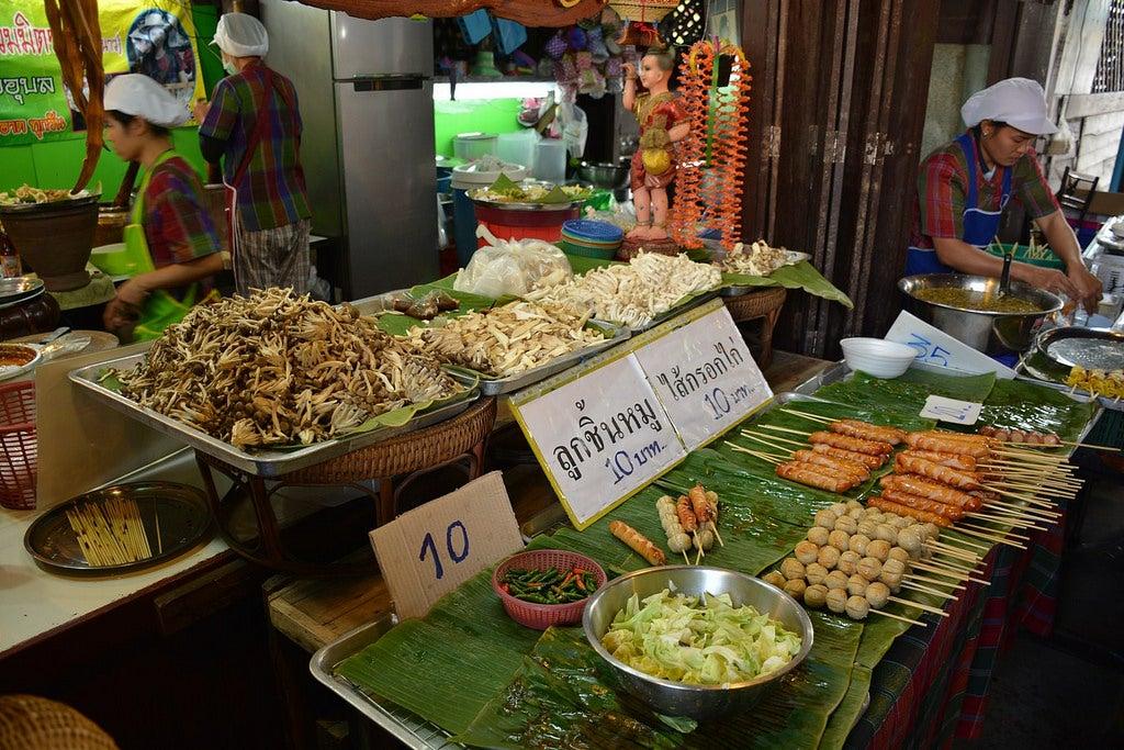 Puestos de comida en Bangkok