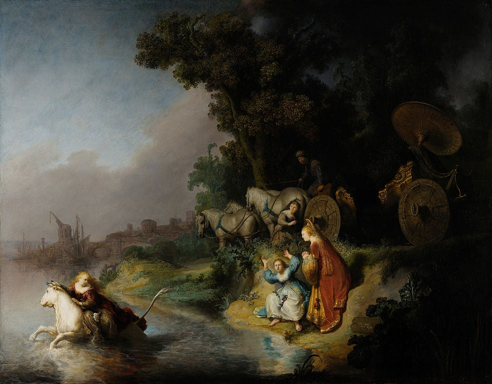 """""""El rapto de Europa"""", de Rembrandt"""