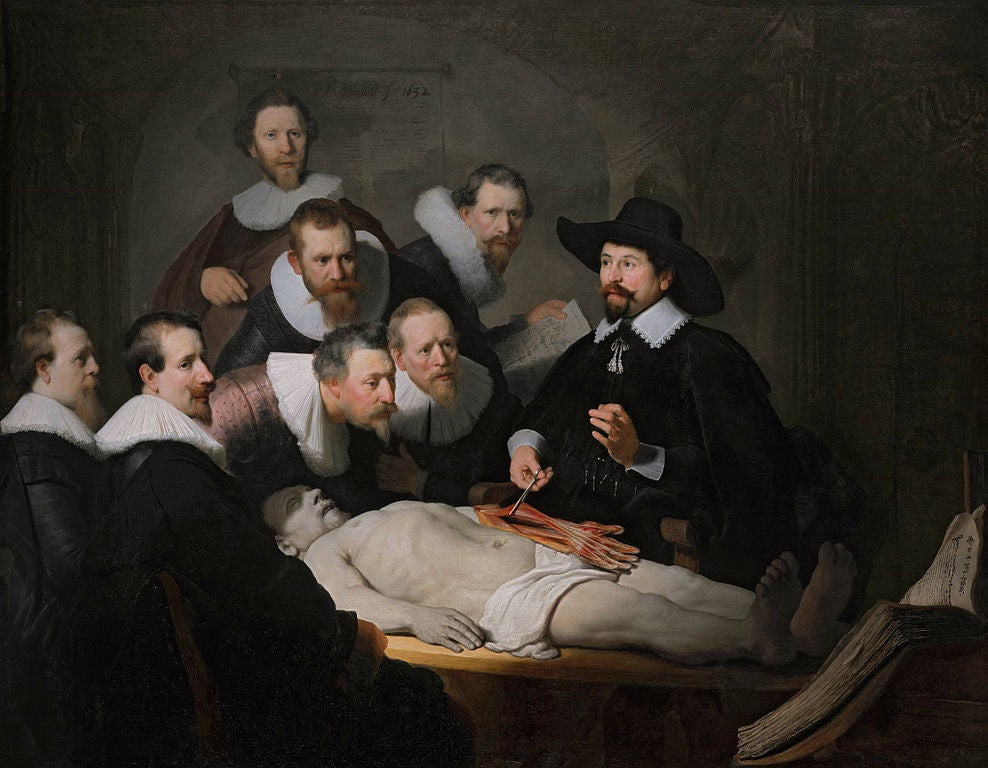 """""""Lección de antaomía"""", de Rembrandt"""