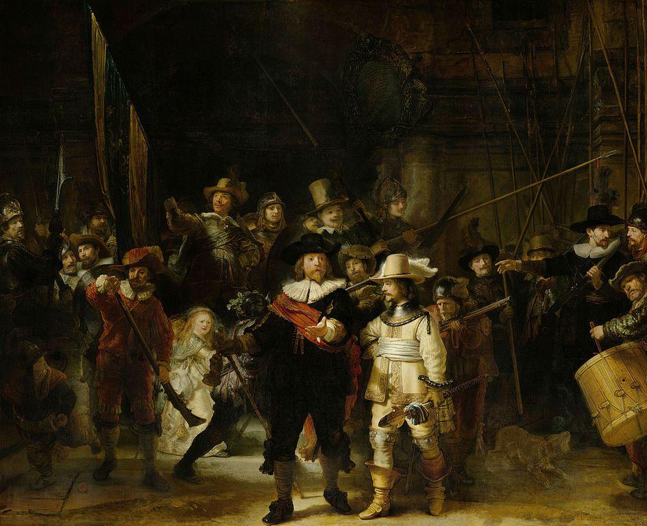 Cuadro 'La ronda de noche' de Rembrandt