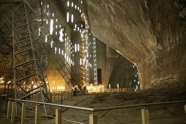 Interior de la salina Turda