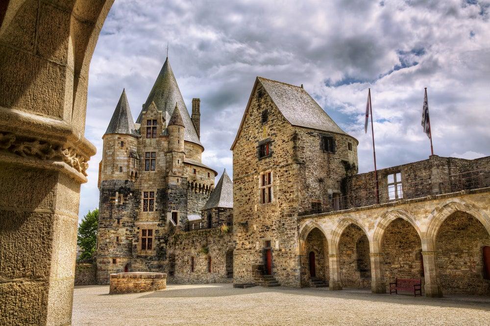 Castillo de Vitré en la Bretaña francesa