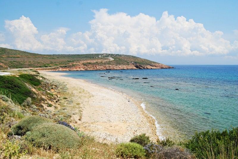 Playa en Bozcaada en Turquía
