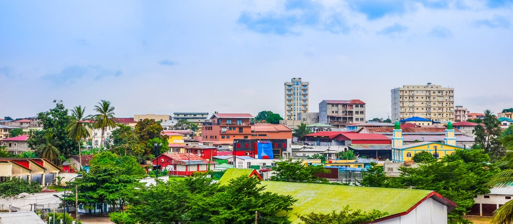 Vista de la ciudad de Bata en Guinea Ecuatorial