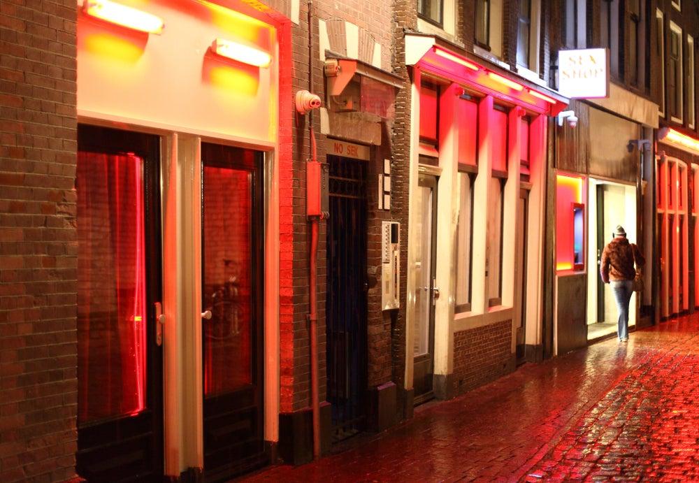 Calle del Barrio Rojo de Ámsterdam