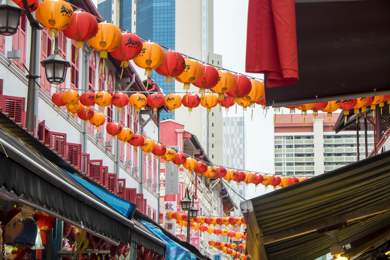 Calle de Chinatown en Singapur