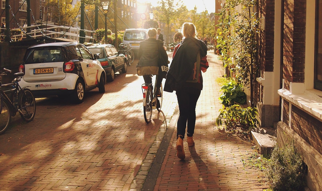 Calle en Leiden, Holanda