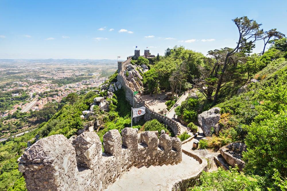 Castillo de los Moros en el Parque Natural de Sintra