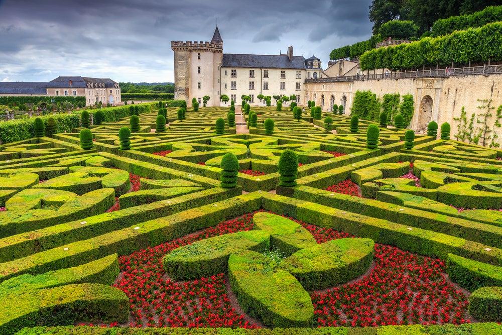 Castillo de Villandry en el valle del Loira