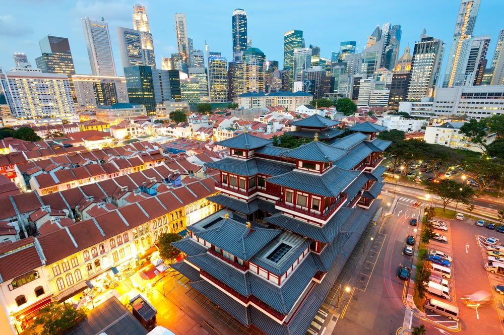 Vista del barrio de Chinatown en Singapur