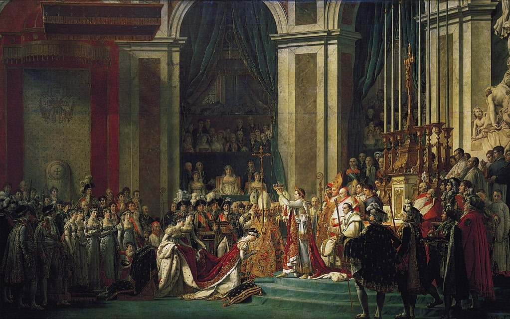 """""""La coronación de Napoleón"""" de Jacques-Louis David"""