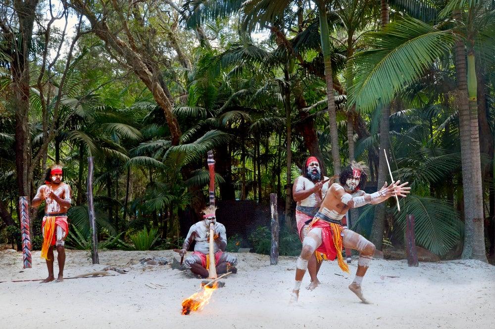 Danza aborigen en Australia