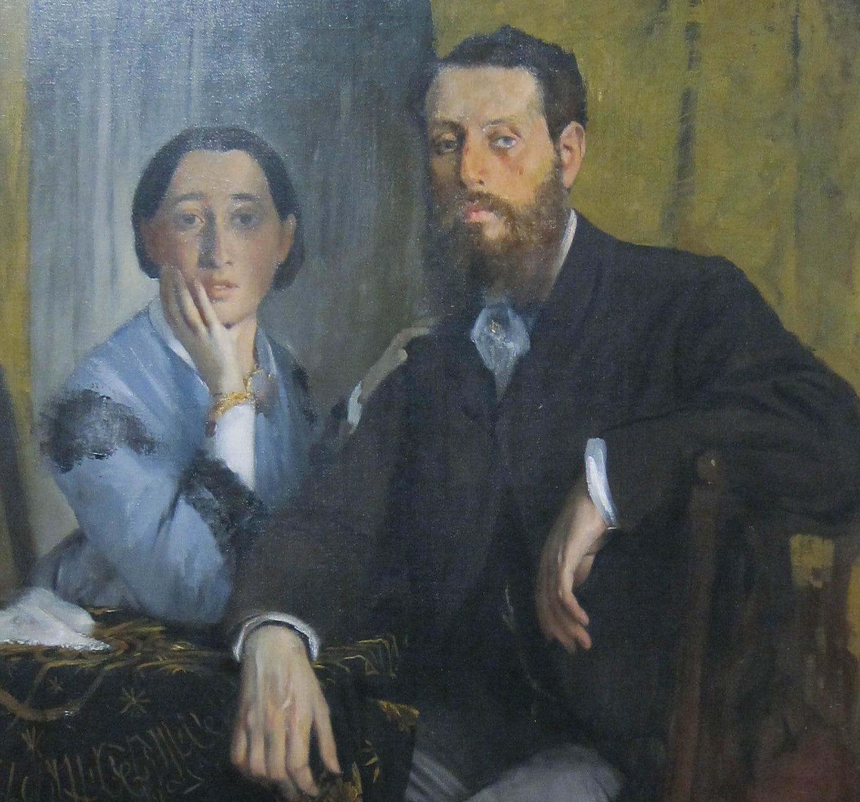 """""""Edmondo y Therèse Morbili"""" de Edgar Degas"""
