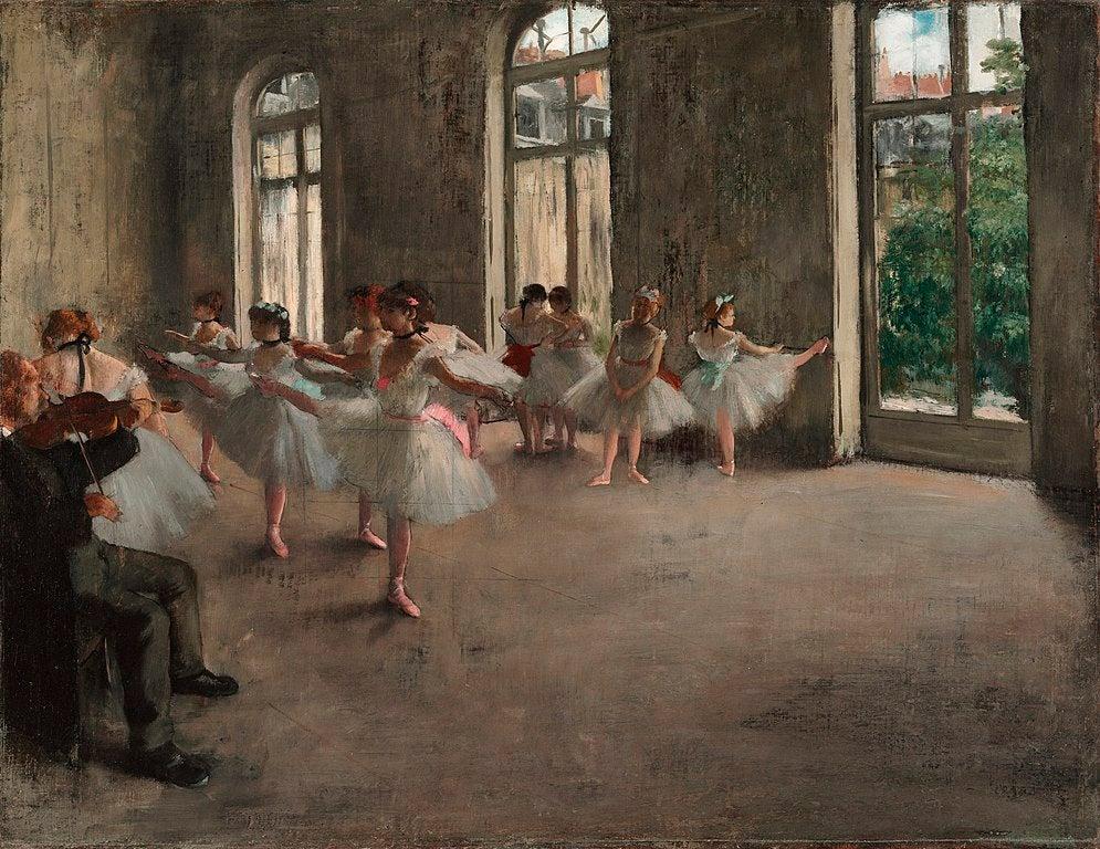 """""""Ensayo de ballet"""" de Edgar Degas"""