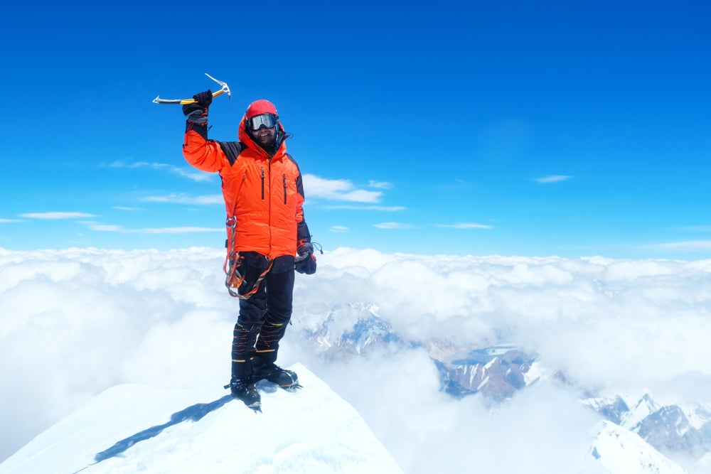Escalador en el Everest