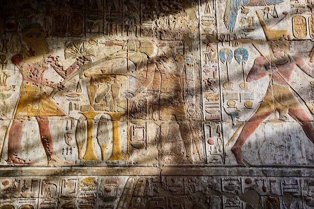Friso en el templo de Luxor
