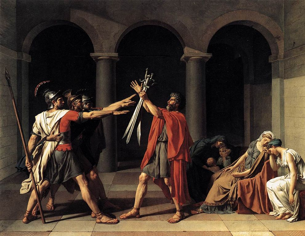 """El juramento de los Horacios"" de Jacques-Louis David"