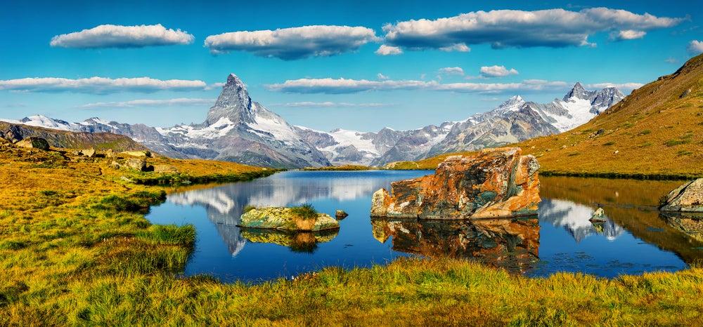 Lago Stellisee en Zermatt, Suiza