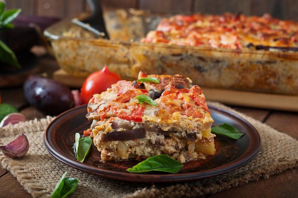Musaca, plato típico delas gastronomía de Grecia