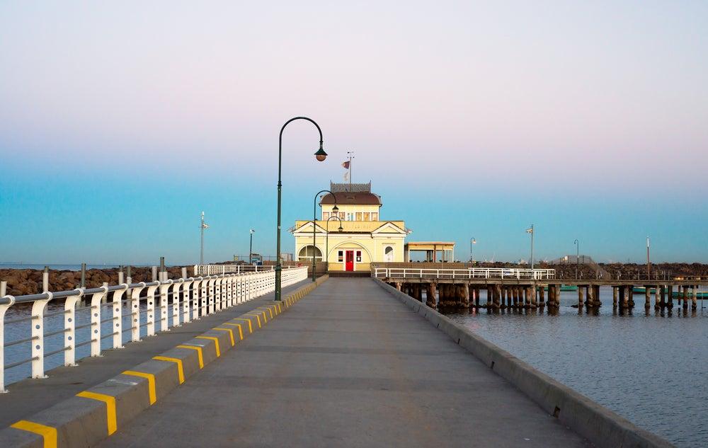 Muelle de St Kilda en Melbourne