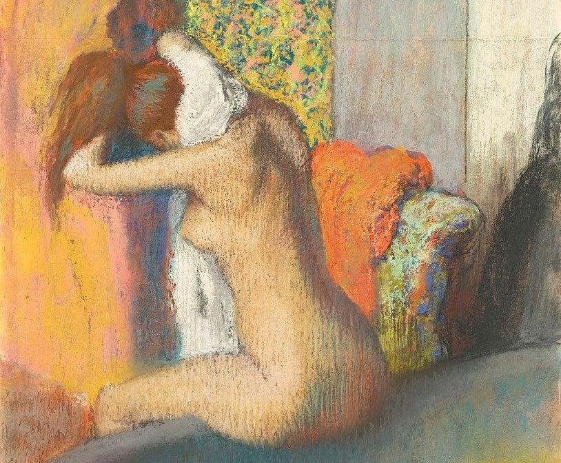 """""""Después del baño, mujer secándose"""" de Edgar Degas"""
