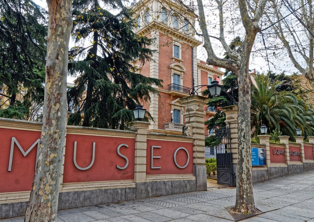 Museo Lázaro Galdiano en la calle Serrano de Madrid