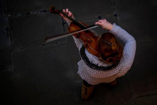 Músico callejero en Covent Garden