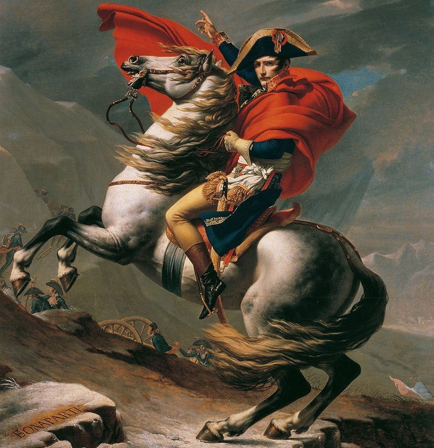 """Napoleón cruzando los Alpes"" de Jacques-Louis David"