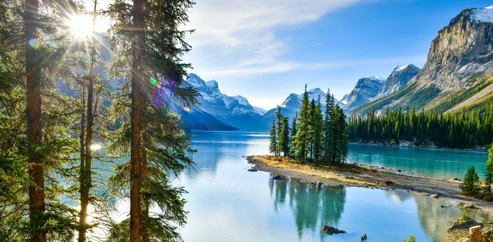 Parque Nacional Jasper en Alberta, Canadá