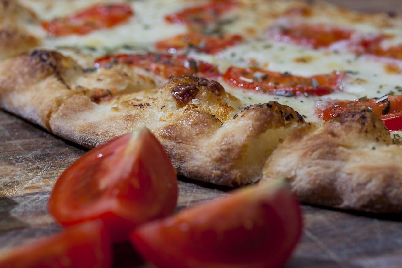 Pizza italiana en uno de los restaurantes en la Gran Vía