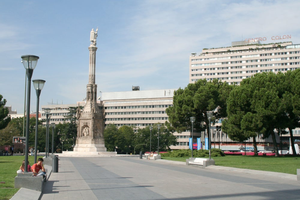 Plaza de Colón en Madrid