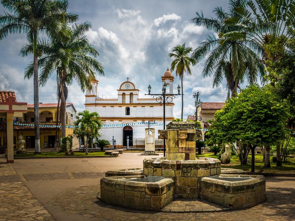 Plaza de Copán Ruinas