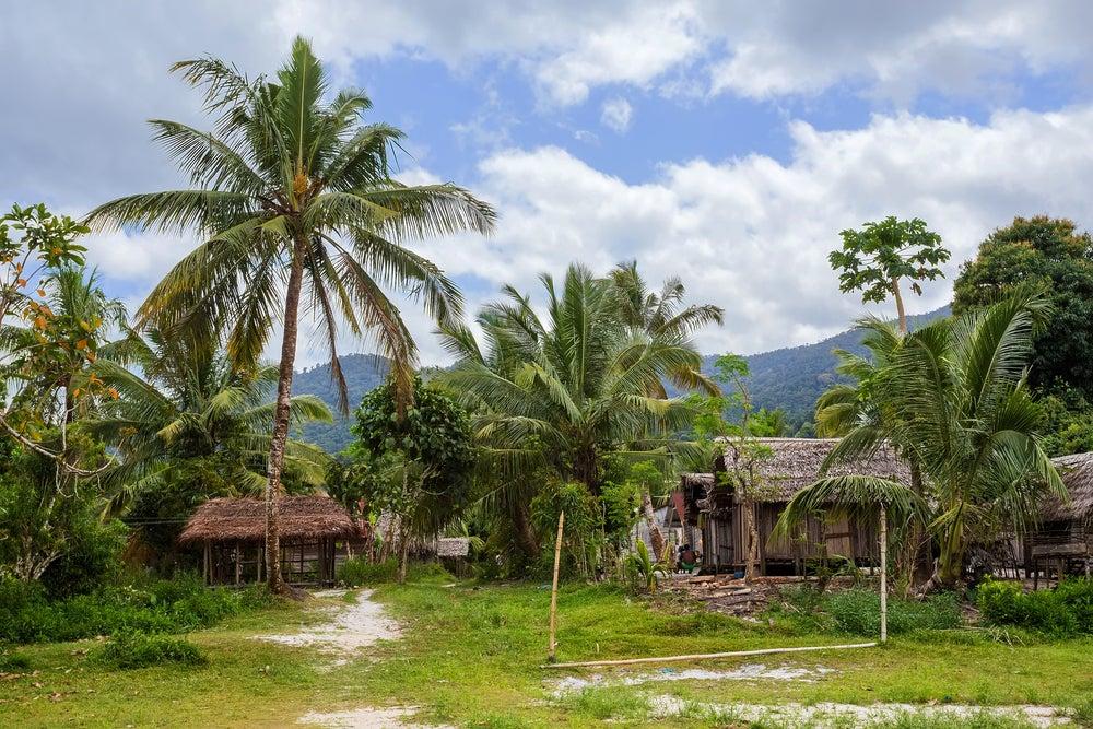 Poblado indígena en Madagascar