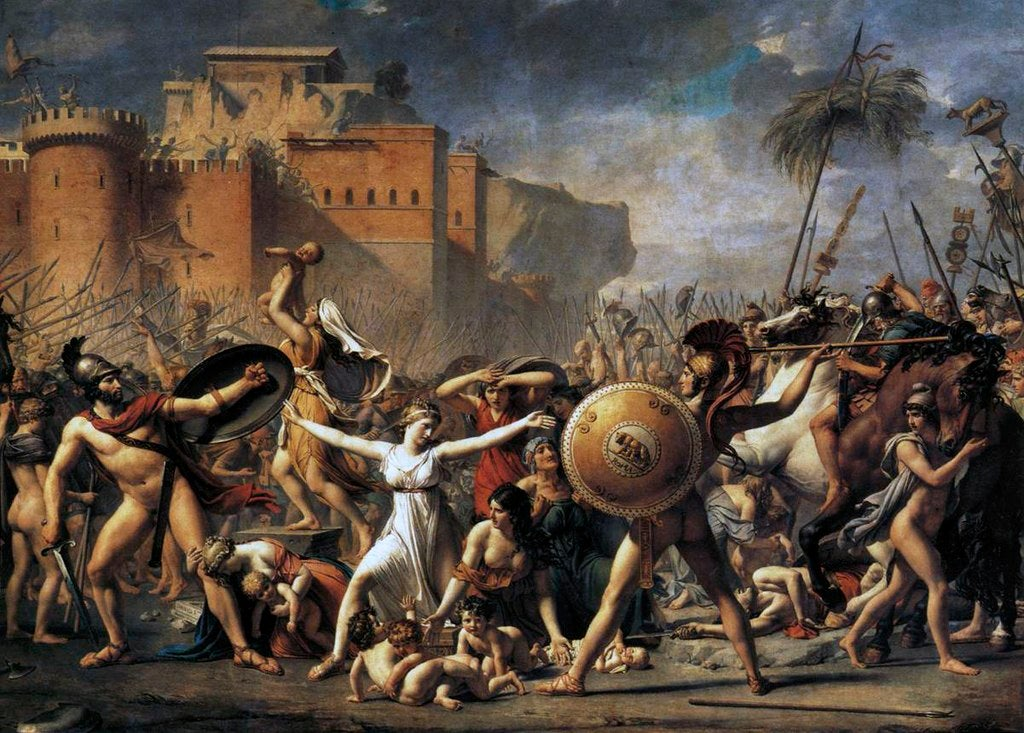 """El rapto de las sabinas"" de Jacques-Louis David"