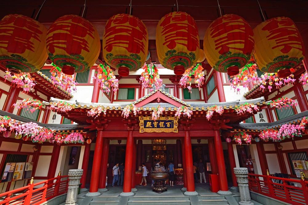 Templo budista en el barrio chino de Singapur