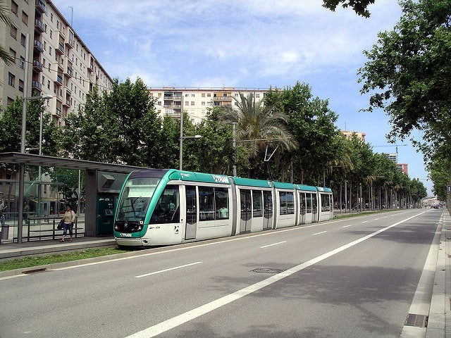 Tranvía en Barcelona
