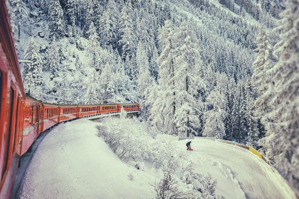 Tren Glacier Express en Suiza