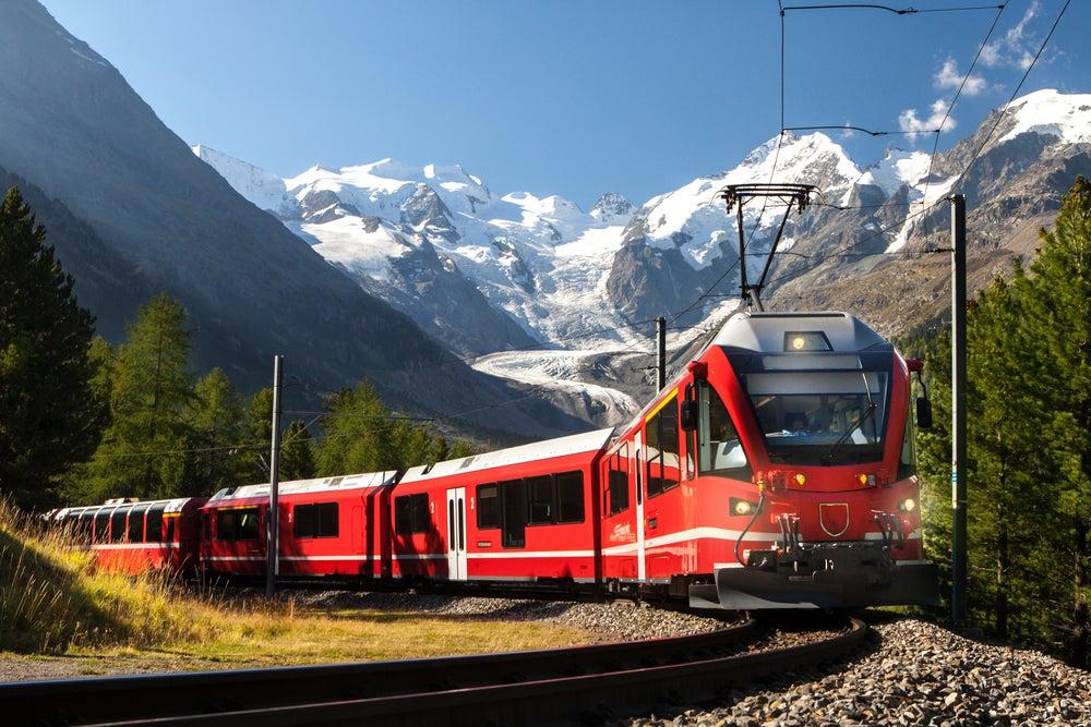 Viajar en tren por Europa, Suiza
