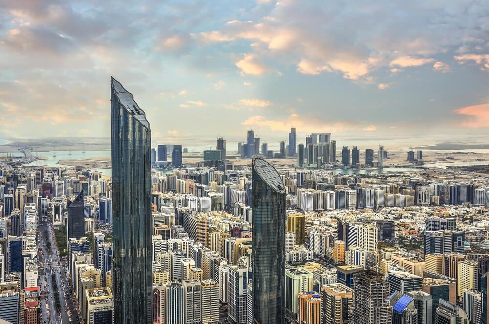 Vista aérea de Abu Dabi