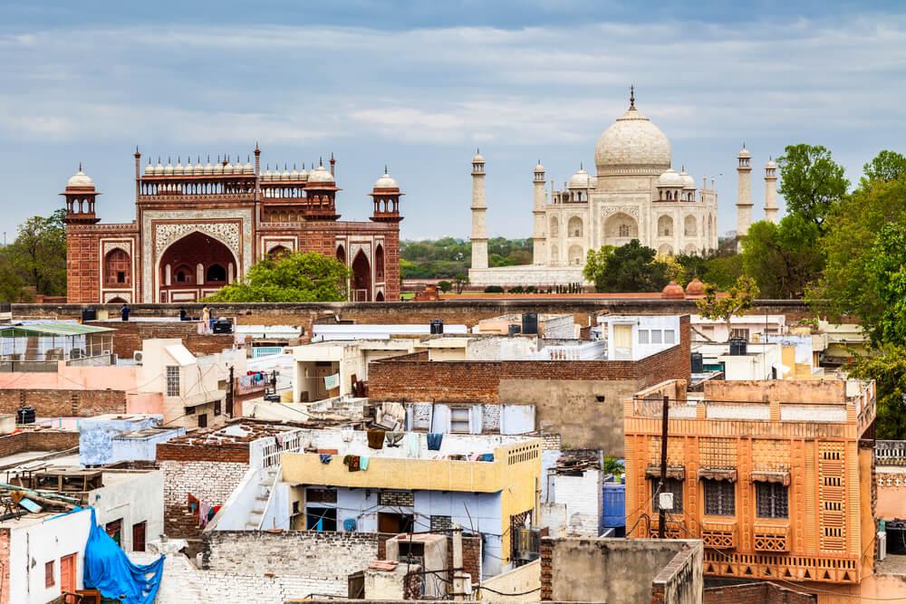 Vista de la ciudad de Agra en la India