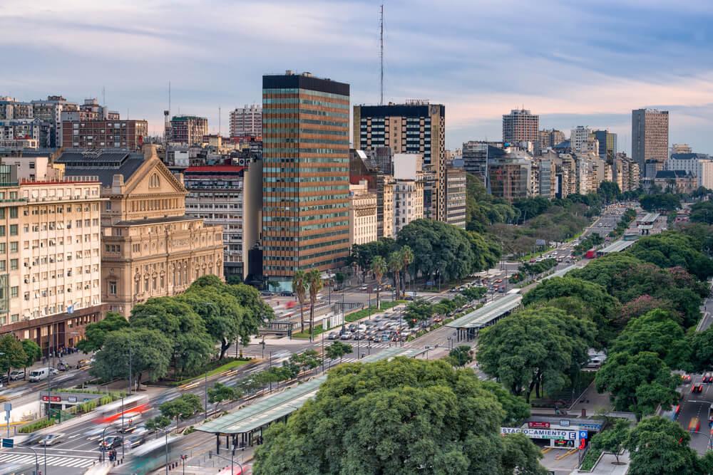Calle 9 de Julio en Buenos Aires