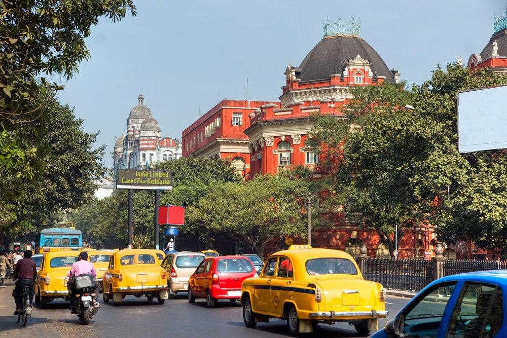 Calle de Calcuta en la India